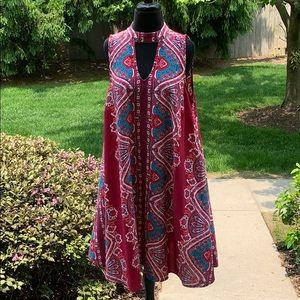 Dresses & Skirts - Paisley Print Sleeveless Dress